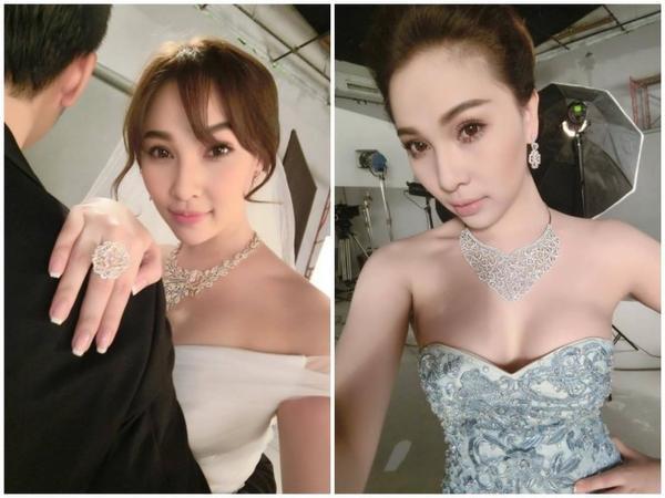 Quỳnh Thư diện đồ cưới khiến công chúng đồn đoán người đẹp sẽ  kết hôn trong thời gian tới.