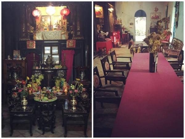 Quỳnh Thư chia sẻ bức ảnh nhà thờ của dòng tộc để chứng minh rằng bản thân chưa bao giờ... nổ.
