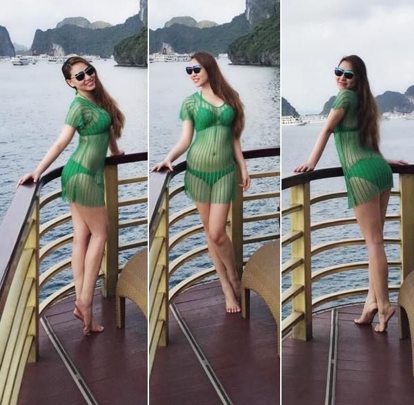 Nhà có điều kiện, Quỳnh Thư thường xuyên xuất hiện với những món đồ hiệu đắt tiền. Mỗi tháng ít nhất một lần, chân dài này xuất ngoại để du lịch.