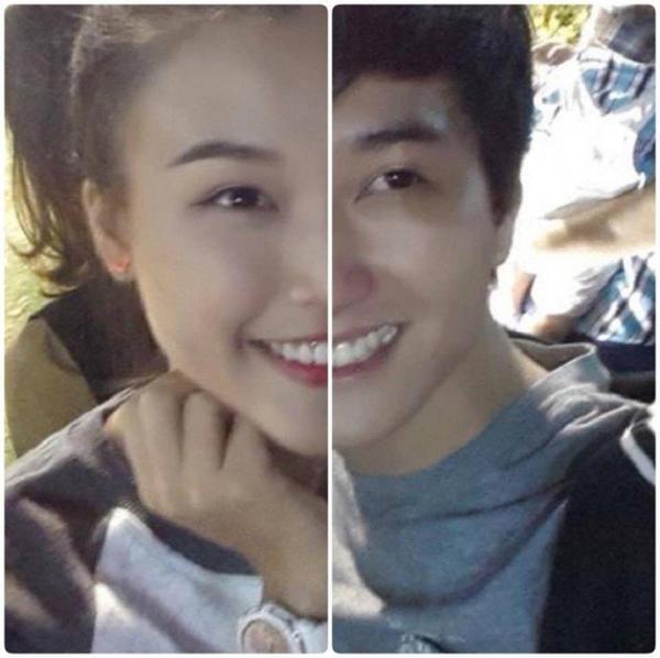 Hai khuôn mặt như một của cặp đôi.