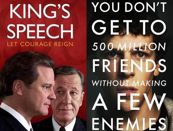 """Đó là một trong những lý do """"The King's Speech"""" được đánh giá cao hơn """"The Social Network""""."""