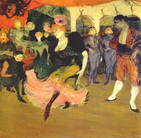 Các vũ công say sưa với điệu bolero (1895).