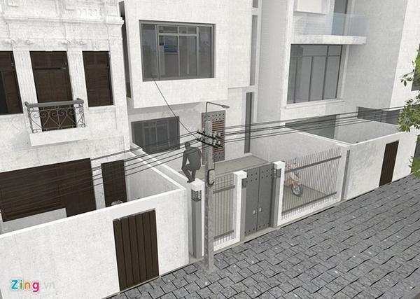 Trộm thường lợi dụng cây, cột điện, tường nhà để leo trèo, đột nhập. Đồ họa: Hà Ninh.