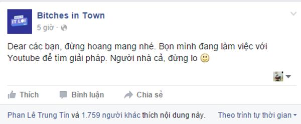 MC Thùy Minh giải thích là do lượng truy cập quá đông nên kênh Youtube của chương trình bị... sập.