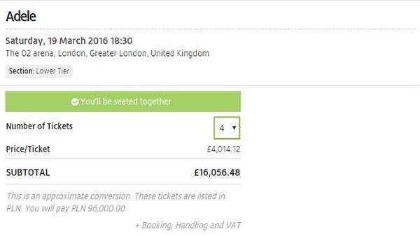 Người hâm mộ chậm tay sẽ phải mua lại vé từ người mua trước đó với giá lên đến hàng nghìn bảng.