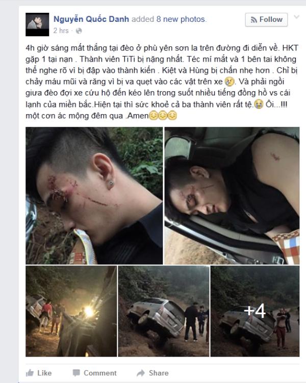 Lý Tuấn Kiệt (tên thật là Nguyễn Quốc Danh) cập nhật tình hình về nhóm