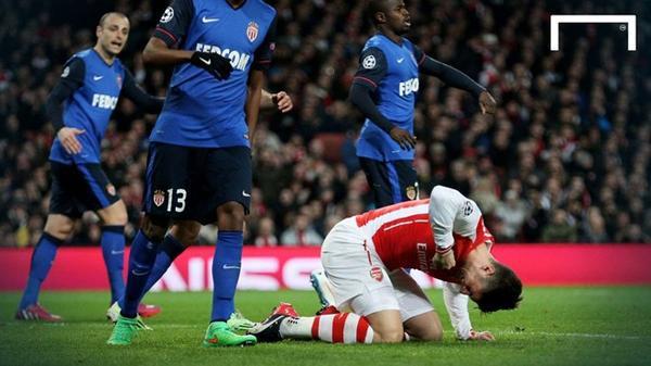 Arsenal đã gục ngã vào mùa trước dù đối thủ chỉ là Monaco.