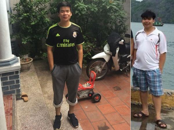 Sỹ Anh từng nặng 106 kg (ảnh phải). Sau 5 tháng, anh giảm được 30 kg và duy trì việc tập luyện để có vóc dáng như ý (ảnh trái).