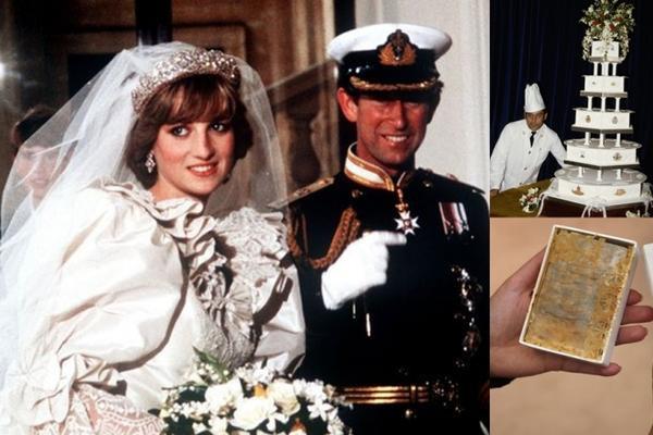 Công nương Diana và hoàng tử Charles trong lễ cưới năm 1981