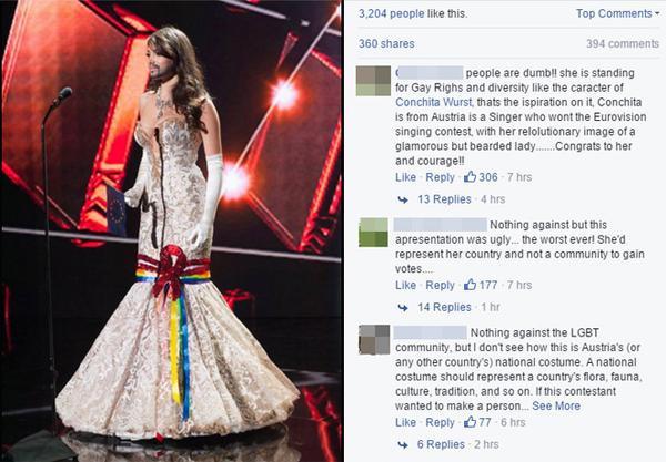 Amina Dagi đeo râu giả gây ra tranh cãi trong công chúng quốc tế.