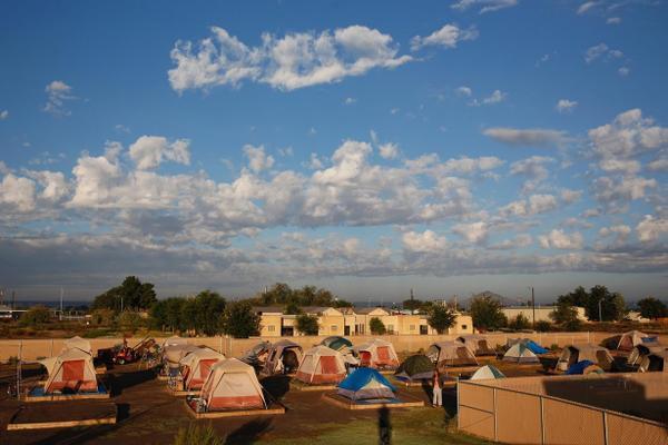 Một khu trại dành cho  người vô gia cư ở New Mexico.