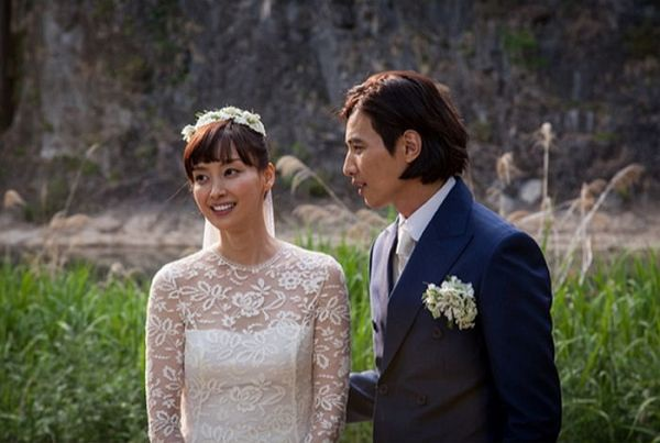 Won Bin và Lee Na Young trong đám cưới hồi tháng 5.