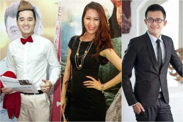 Bộ ba người dẫn chương trình: Bá Niên, Dương Thùy Linh và Bùi Đức Bảo.