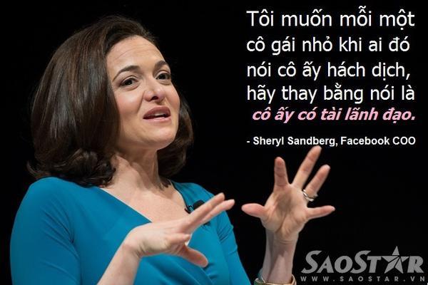 Phát ngôn của Sheryl Sandberg cổ vũ các cô gái trẻ.