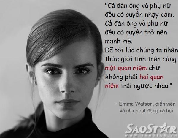 Phát ngôn cho quyền bình đẳng giới của Emma Watson.