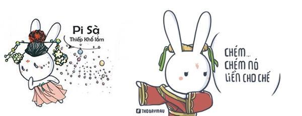 Thỏ 7 màu cũng theo trào lưu Võ Tắc Thiên.
