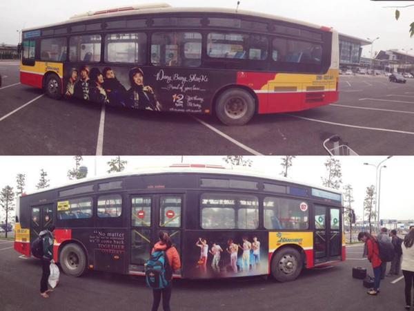 Cassiopeia Việt Nam mua quảng cáo trên xe bus