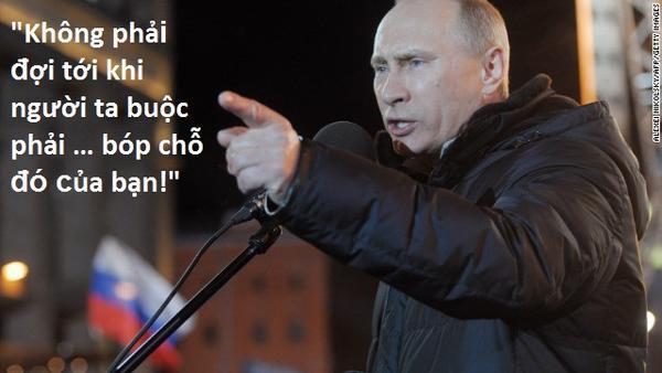 4. Putin phát ngôn gây sốc