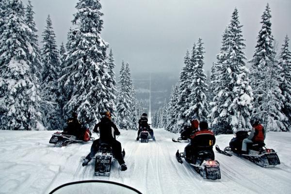 Chỉ cần trượt dọc theo con dốc này là bạn đang đi giữa hai nước Na-uy và Thụy Điển.