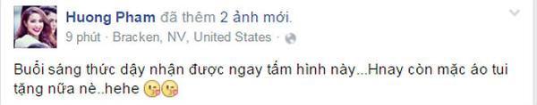 Status mới của Phạm Hương về người đẹp Dominica.
