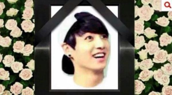 Bức ảnh Jung Kook bị fan của EXO chỉnh sửa thành ảnh thờ.