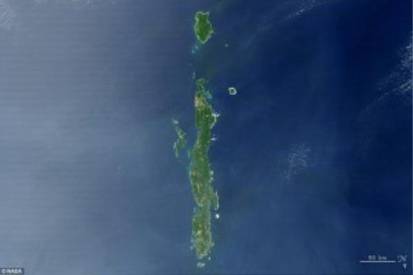 Quần đảo Andaman có hình chữ I.
