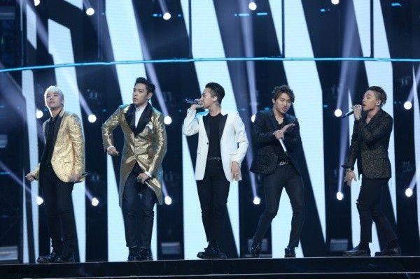 Big Bang tại sân khấu đài Hồ Nam.