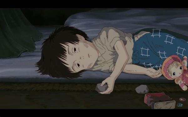 Em bé Setsuko lả đi vì đói và bệnh tật