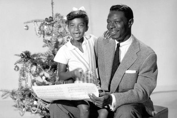 Natalie và cha - huyền thoại nhạc Jazz Nat King Cole.