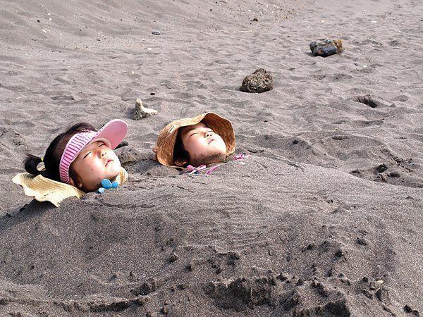 tắm cát 1