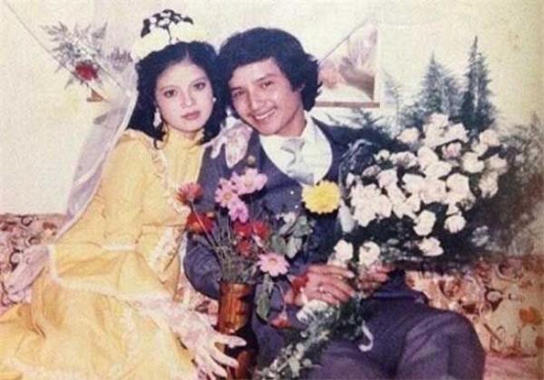 Chí Trung - Ngọc Huyền trong ngày cưới.