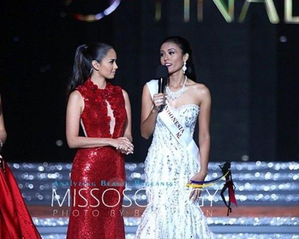 Á hậu người Indonesia được khen ngợi tại vòng ứng xử Hoa hậu Thế giới 2015.