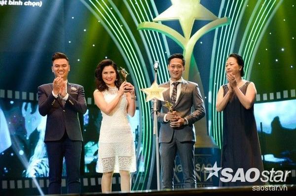 Thúy Hà và Mạnh Hưng nhận Giải nam, nữ diễn viên truyền hình dài tập do hội đồng nghệ thuật bình chọn.