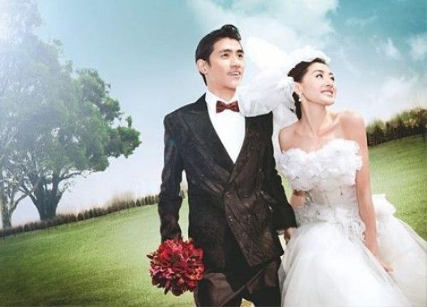Nụ cười hạnh phúc của Trương Thiên Ái trong bộ ảnh cưới.