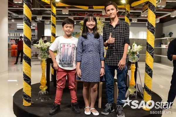 Bộ ba diễn viên nhí của bộ phim Tôi thấy hoa vàng trên cỏ xanh: Trọng Khanh, Thanh Mỹ, Thịnh Vinh.