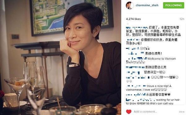 Hình ảnh gần đây của Hoa đán 40 tuổi trên Instagram.