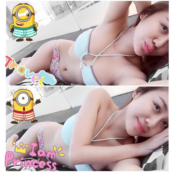 Văn Mai Hương khoe vòng eo con kiến với bikini