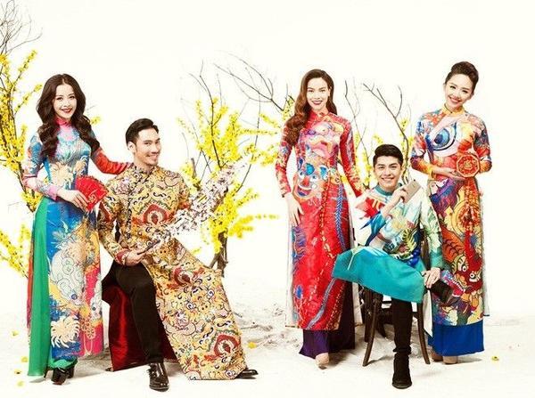 Nyle DiMarco, Mame Adjei hào hứng diện áo dài chụp ảnh Tết cùng các sao Việt (3)