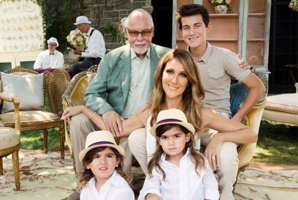 Vợ chồng Céline Dion và các con