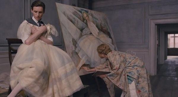 Einar làm mẫu cho vợ vẽ tranh một vũ nữ
