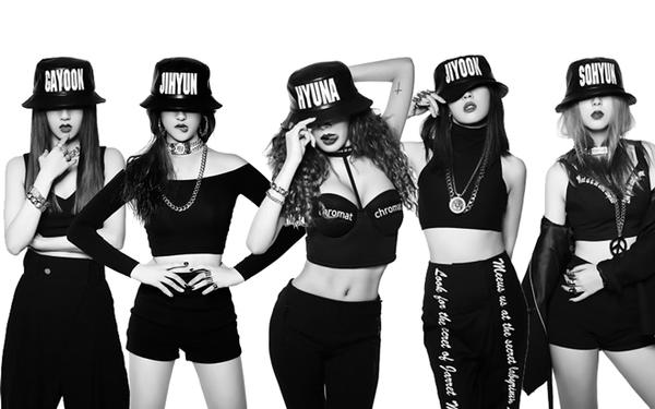Tạo hình của 4Minute trong Crazy.