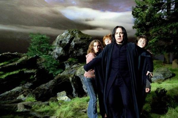 Snape che chở, bảo vệ ba học trò