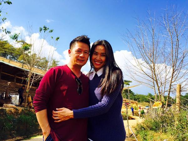 Bằng Kiều chụp ảnh tình cảm cùng Dương Mỹ Linh
