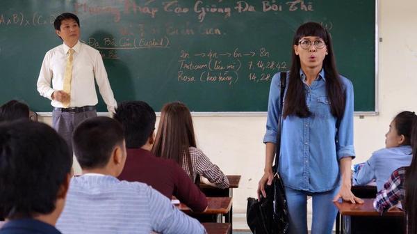 Hình ảnh Dương Mỹ Linh trong phim do Bằng Kiều chia sẻ