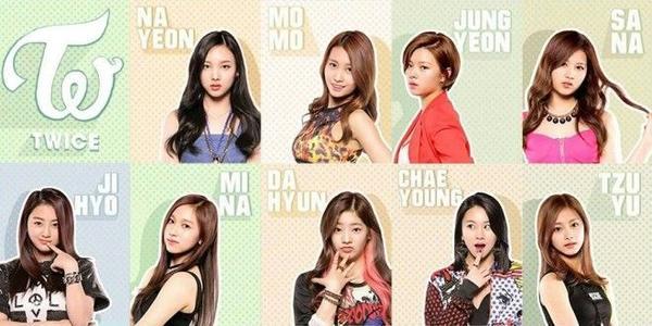 Các thành viên xinh đẹp của TWICE