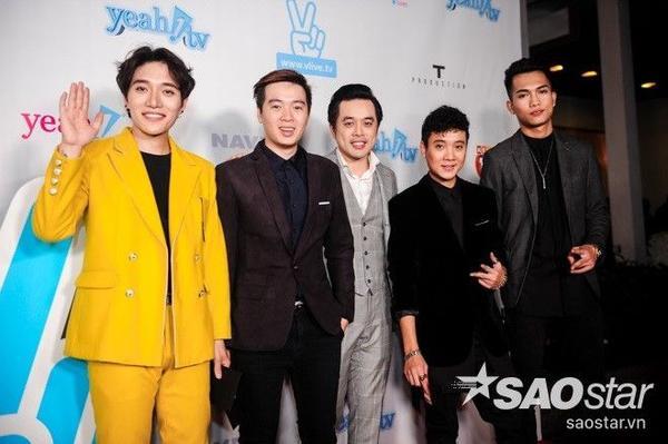 Từ trái sang: Châu Đăng Khoa, Phạm Toàn Thắng, Dương Khắc Linh, Justatee, Big Daddy