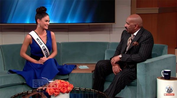 Miss-Universe-Pia-Wurtzbach-inerview-with-Steve-Harvey-Video