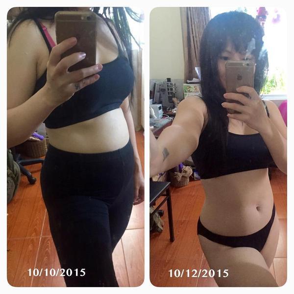 Từ 59kg, Dumy đã giảm xuống còn 52kg