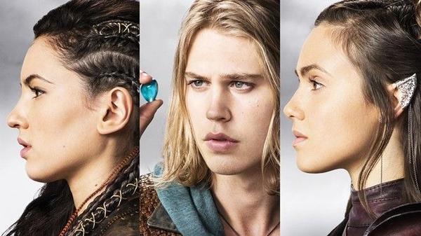Bộ ba nhân vật chính của phim: Eretria -Wil - Amberle.