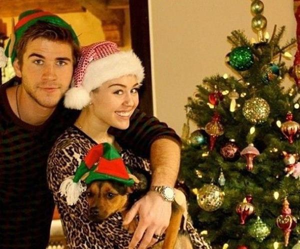 Miley - Liam bên nhau ngày Giáng sinh thời còn mặn nồng.